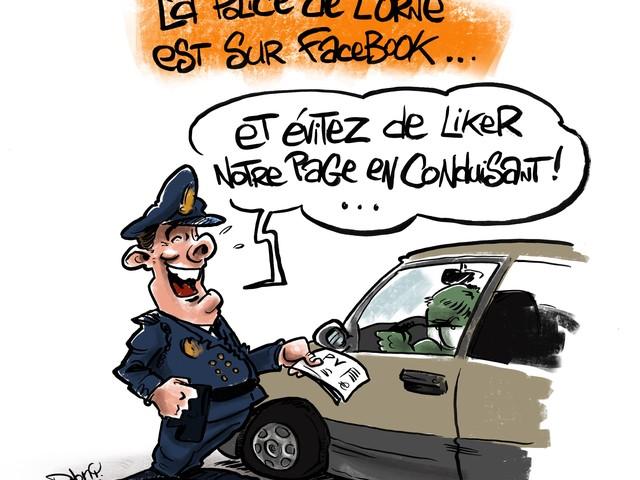 L'actu vue par Djony : dans l'Orne Like la Police !