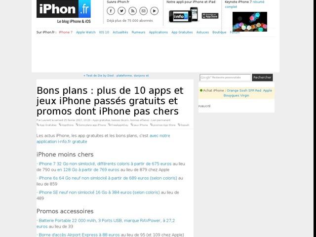 Bons plans : plus de 10 apps et jeux iPhone passés gratuits et promos dont iPhone pas chers