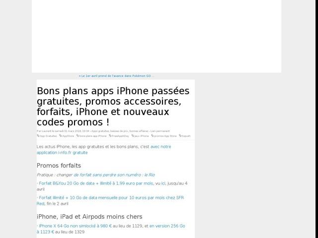 Bons plans apps iPhone passées gratuites, promos accessoires, forfaits, iPhone et nouveaux codes promos !