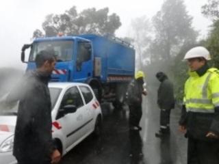 La galère des équipes d'EDF pendant Berguitta