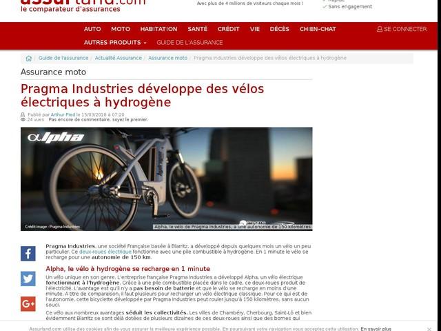 Pragma Industries développe des vélos électriques à hydrogène