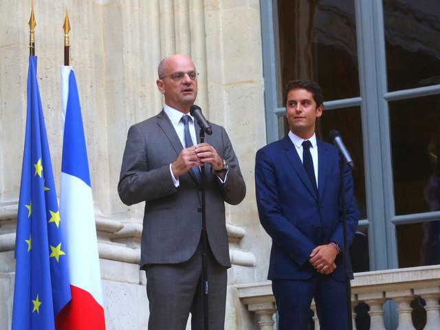 Gabriel Attal nommé secrétaire d'État auprès de Jean-Michel Blanquer, ministre de ...