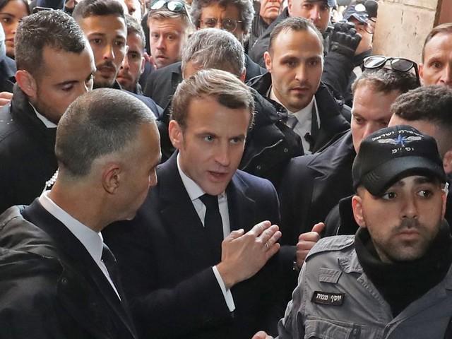 À Jérusalem, Emmanuel Macron s'en prend à la police israélienne