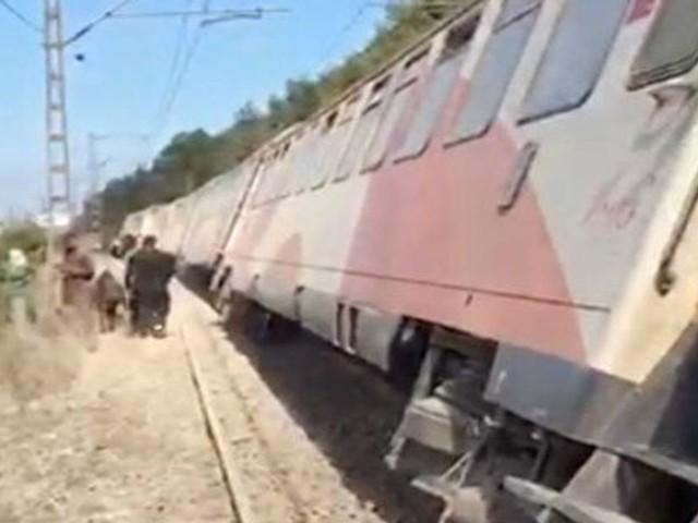 Déraillement d'un train près de la gare de Bouskoura