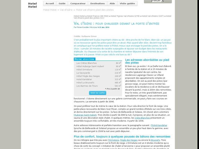 Sélection d'hotels : Val d'Isère: pour chausser devant la porte d'entrée