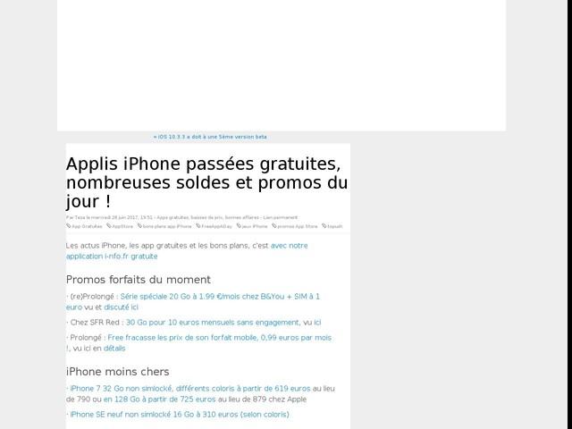 Applis iPhone passées gratuites, nombreuses soldes et promos du jour !