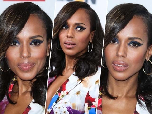 Kerry Washington : lèvres nude et yeux de biches, on copie son beauty look !