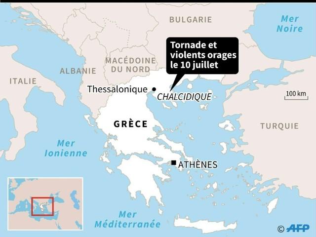 Grèce: six touristes tués dans une tornade, des dizaines de blessés