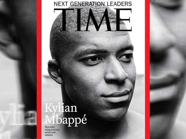 Kylian Mbappé fait la une du célèbre magazine Time