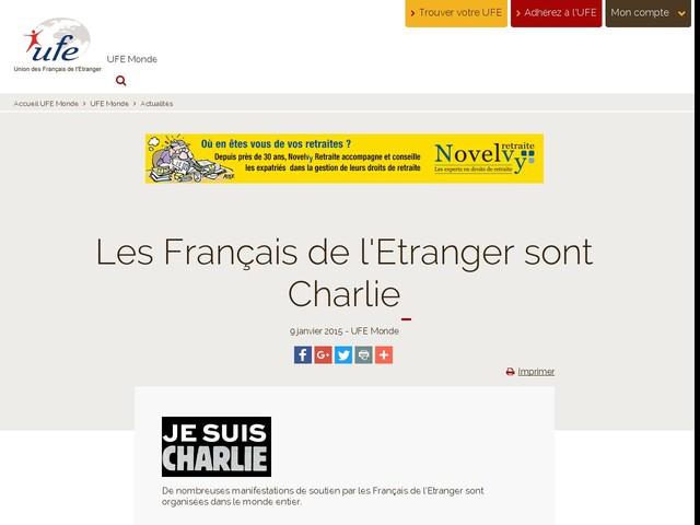Les Français de l'Etranger sont Charlie