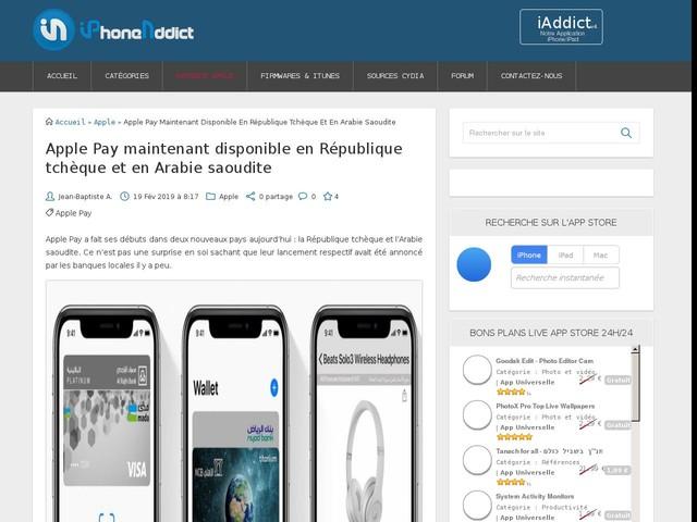 Apple Pay maintenant disponible en République tchèque et en Arabie saoudite