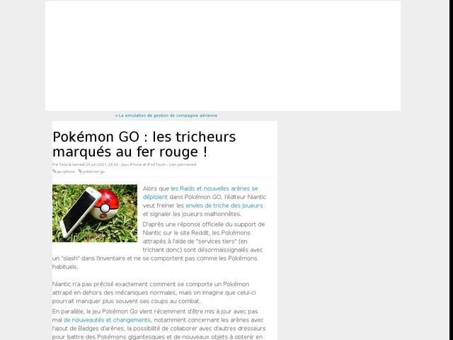 Pokémon GO : les tricheurs marqués au fer rouge !