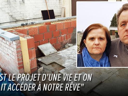 Linda et Fabian effondrés par la faillite de Vérandas Confort: ils ont versé 31.000 euros d'acompte et fait tous les travaux préalables