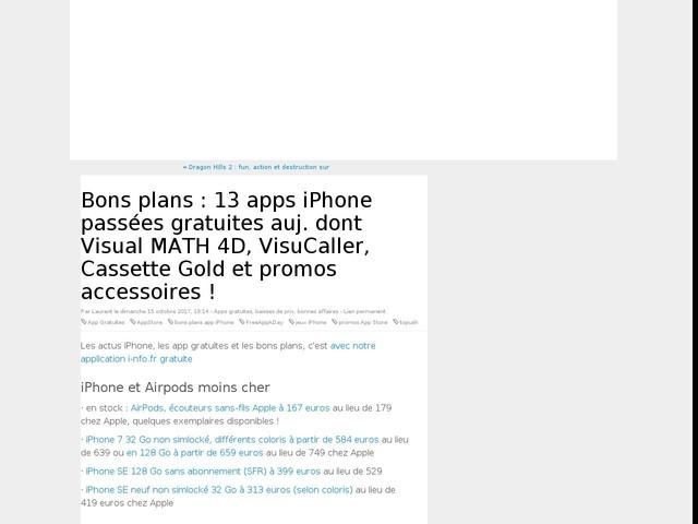 Bons plans : 13 apps iPhone passées gratuites auj. dont Visual MATH 4D, VisuCaller, Cassette Gold et promos accessoires !