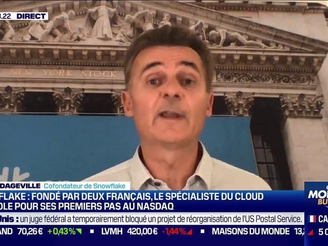 """""""C'est une énorme responsabilité"""": Le spécialiste du cloud Snowflake, fondé par des Français, s'envole pour ses premiers pas au Nasdaq"""
