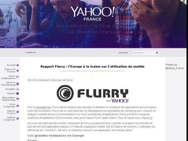 Rapport Flurry : l'Europe à la traîne sur l'utilisation du mobile