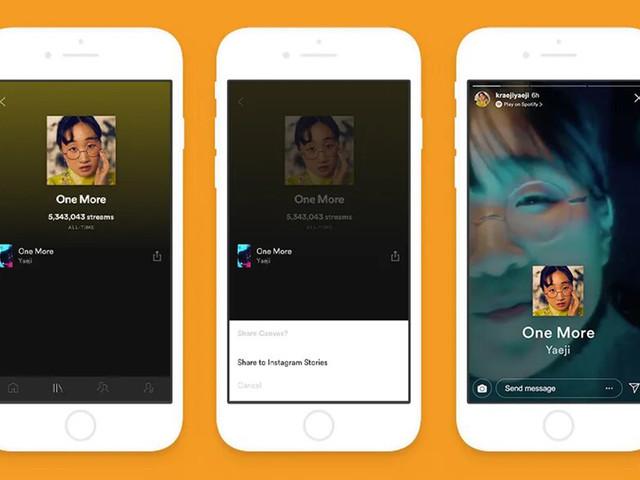 Spotify et Instagram de plus en plus proches grâce à cette nouveauté