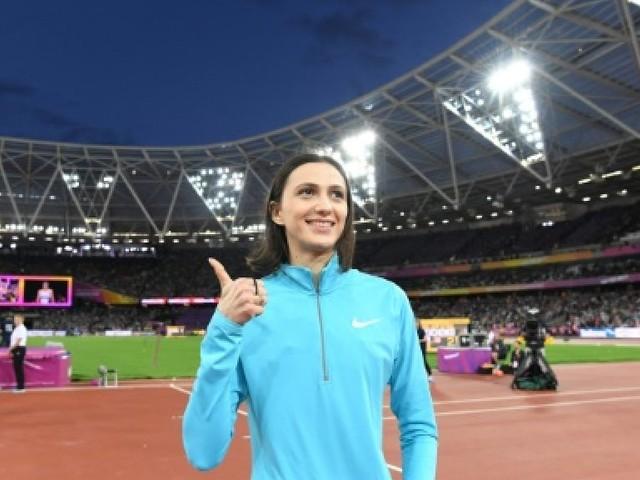 Athlétisme: l'hymne de l'IAAF jouée pour la Russe Lasitskene, sacrée sous drapeau neutre