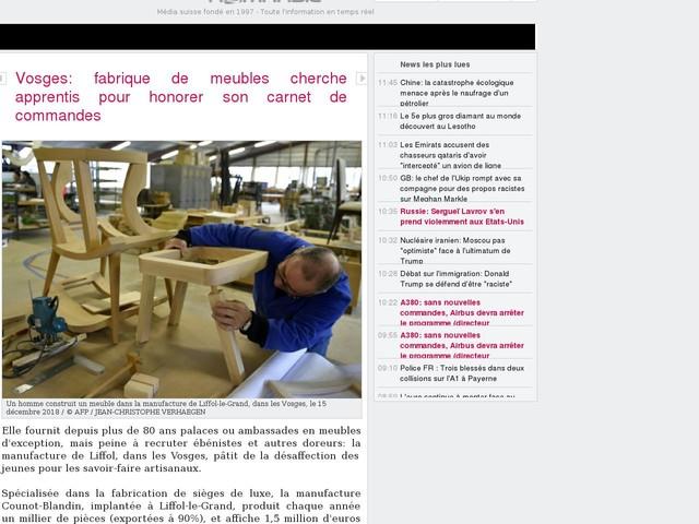 Vosges: Fabrique De Meubles Cherche Apprentis Pour Honorer Son Carnet De  Commandes