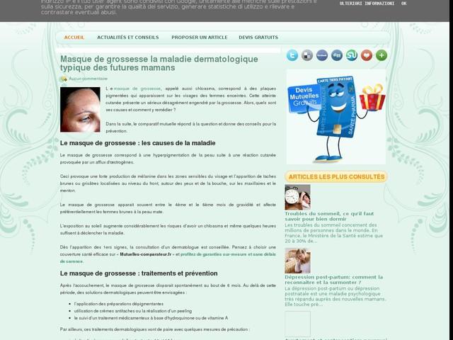 Masque de grossesse la maladie dermatologique typique des futures mamans