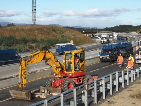 Indépendantistes délogés, réouverture en vue de l'autoroute France-Espagne