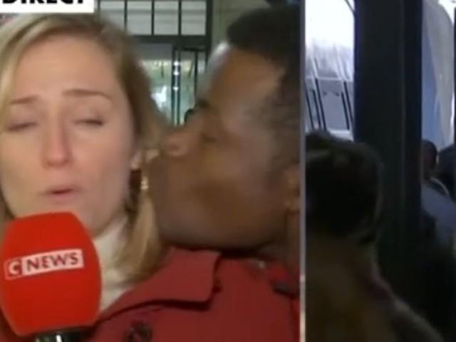 Embrassée de force à l'antenne, une journaliste de CNews réagit sur Twitter (VIDEO)