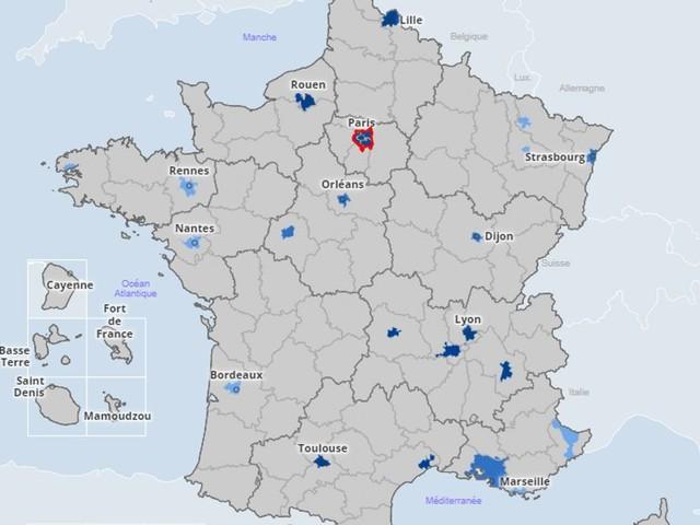 Covid-19: une carte et des graphiques pour voir l'évolution de l'épidémie ville par ville