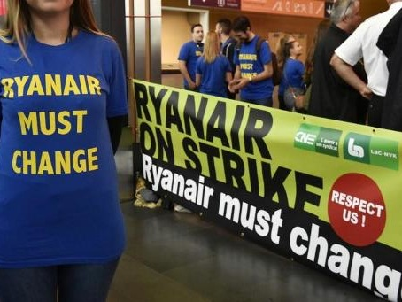 "Ryanair: une journée d'action de ""solidarité internationale"" en Belgique le 27 septembre"