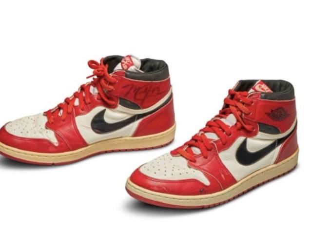 Une paire de basket Air Jordan 1 vendue plus d'un demi-million de dollars