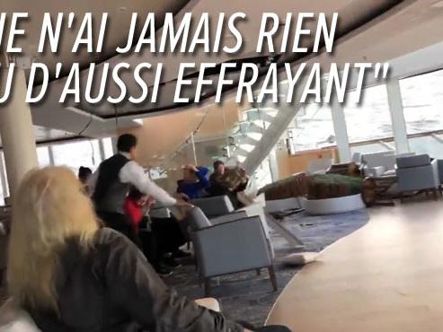 Un paquebot à la dérive au large de la Norvège: 1300 personnes évacuées par hélicoptère (vidéo)