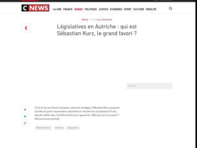 Législatives en Autriche : qui est Sébastian Kurz, le grand favori ?