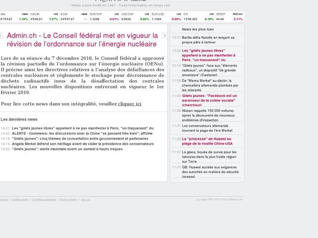 Admin.ch - Le Conseil fédéral met en vigueur la révision de l'ordonnance sur l'énergie nucléaire