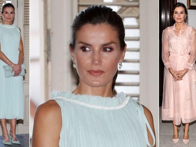 Royal Style - Letizia très élégante dans deux robes de marques parisiennes à Cuba