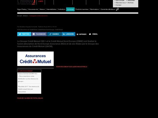 Bancassurance : ACM Iard et ACMN Iard fusionnent officiellement