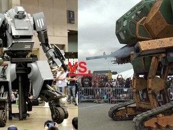 Combat de robots géants : les Américains gagnent face aux Japonais