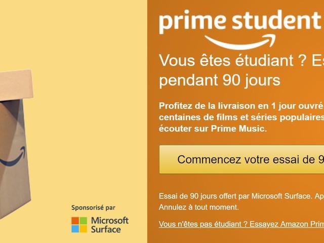[Bon Plan] Prime Student : l'abonnement Amazon Prime à -50% !