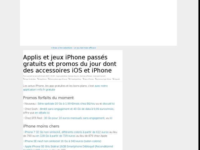 Applis et jeux iPhone passés gratuits et promos du jour dont des accessoires iOS et iPhone