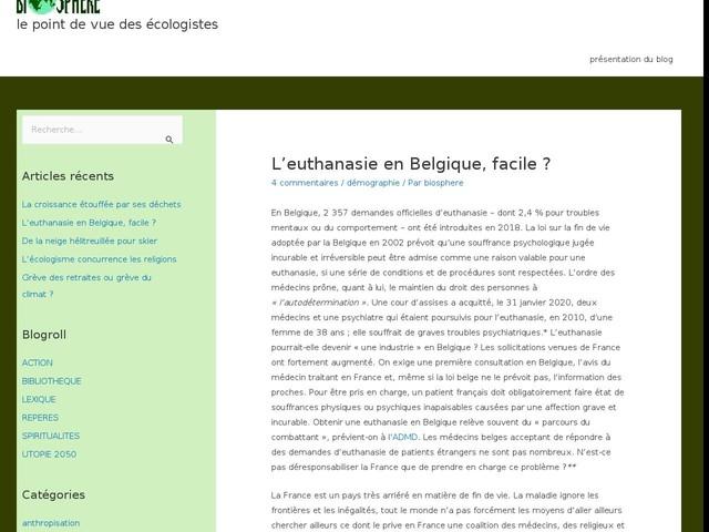 Commentaires sur L'euthanasie en Belgique, facile ? par marcel