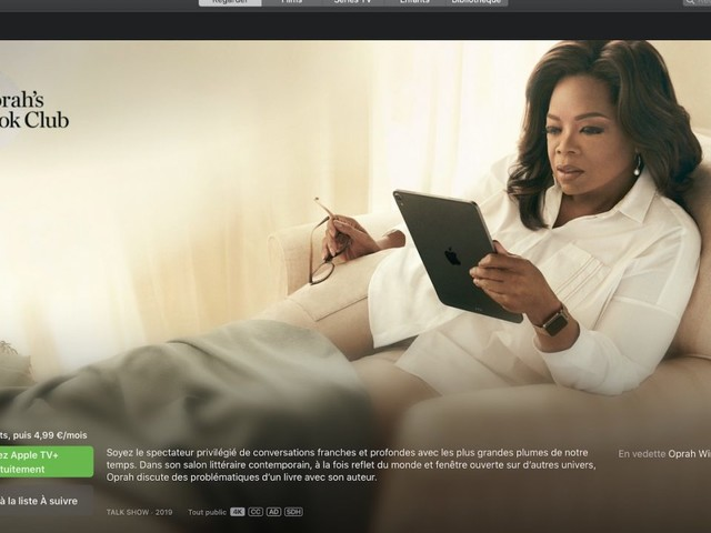 Apple TV+ : le programme d'Oprah Winfrey débarque en France