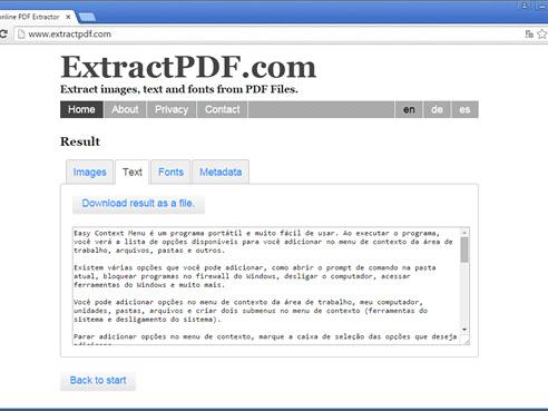 ExtractPDF : extraire du texte à partir d'un fichier PDF