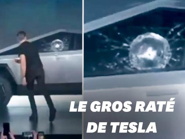 """La présentation du """"Cybertruck"""" de Tesla ne s'est pas passée comme prévu"""