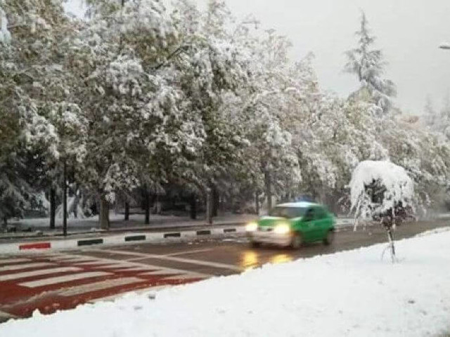 Ifrane recouverte de neige (vidéo)