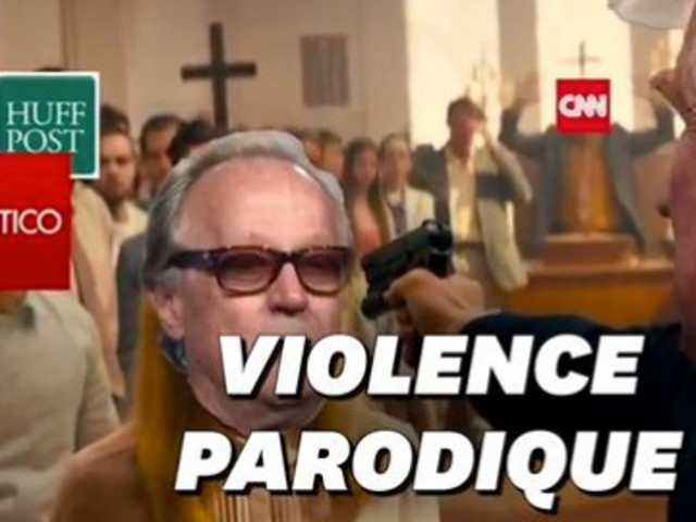 Une vidéo montrant Trump exécutant les médias dans une église indigne