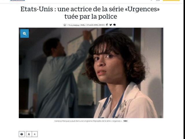 Etats-Unis : une actrice de la série «Urgences» tuée par la police