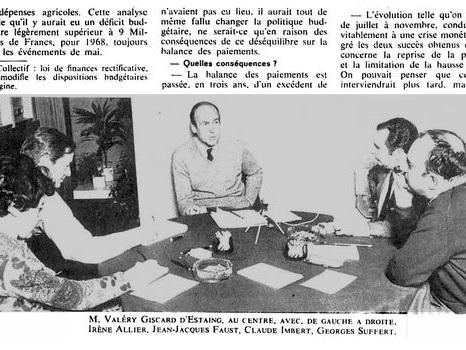 M. Giscard d'Estaing sur la crise