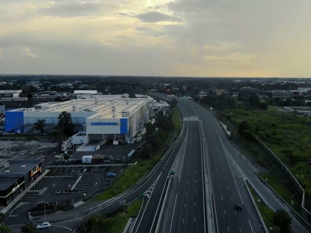 Vidéo : la ville de Mérignac confinée et vue du ciel