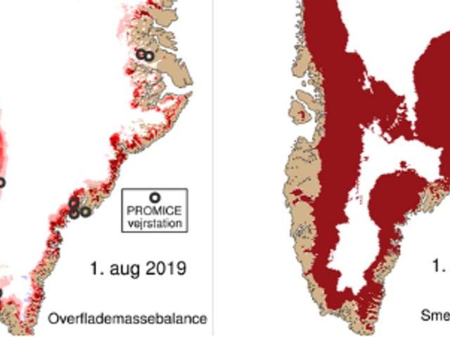 Au Groenland, 11 milliards de tonnes de glace ont fondu en un jour