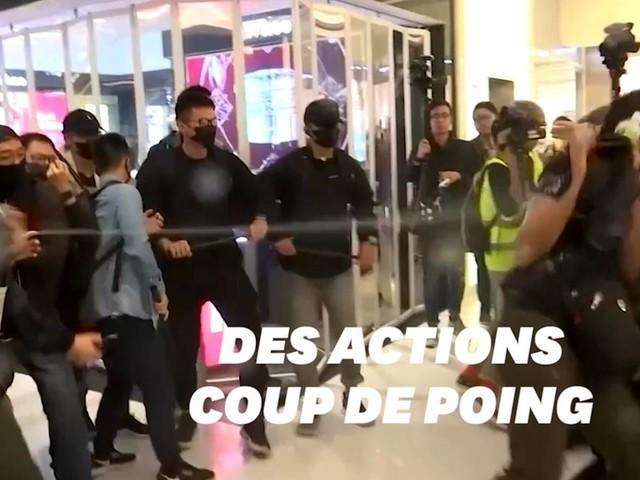 À Hong Kong, troisième jour d'affrontements dans des centres commerciaux