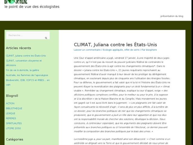 CLIMAT, Juliana contre les États-Unis