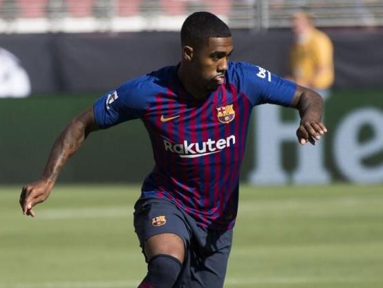 Foot - Amical - Barça - FC Barcelone : le but de Malcom lors du Trophée Gamper